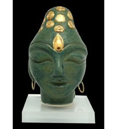 Gold Buddha Stoneware Sculpture