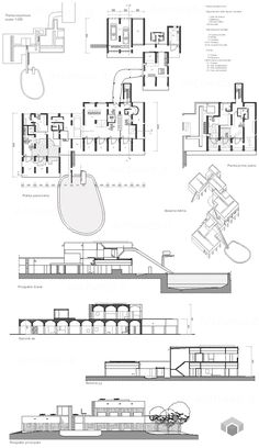 sarabhai house le corbusier cross section - Google Search