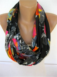 ON SALE Scarf Infinity Scarf Shawl Circle Scarf Loop by SmyrnaShop, $12.90