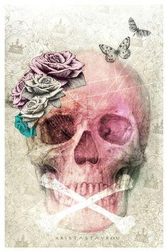 "Saatchi Art Artist Xrista Stavrou; New Media, ""Skull Art - Limited Edition 1/10"" #art"