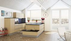 Nordsjøkjøkken -E45 - hvittonet eik