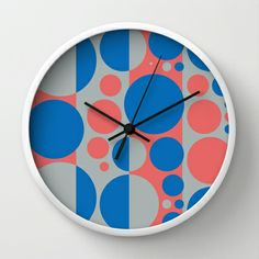 Summer spring fashion colors circles design 3.0 Wall Clock by aapshop - $30.00