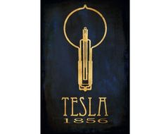 Science Poster 24x36 Steampunk Nikola Tesla Art Print Rock Star Scientist Physics Educational Poster Light Bulb Geek Chic Dorm Office Decor. $185.00, via Etsy.