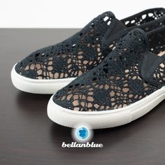 💠💠The ELSA embroidered slip ons - BLACK 🎉️HP 5/16🎉These are so comfy & fun! Only PEACH & BLACK AVAILABLE. Only limited sizes. ‼️THIS SHOE DOES RUN SLIGHTLY BIG‼️8.5, 9 Bellanblue Shoes Sneakers