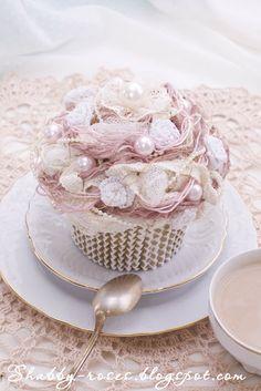 Shabby Chic DIY Tutorial how to make this beautiful cupcake
