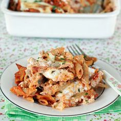 Three Cheese Baked Ziti with Eggplant — of all the recipes i've pinned this is one i think i might actually be able to handle.
