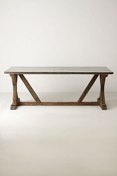 I've wanted this as my kitchen table for longer than I can remember Modern Farmhouse Table #anthropologie