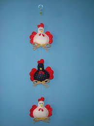 galinhas em feltro para cozinha - Buscar con Google