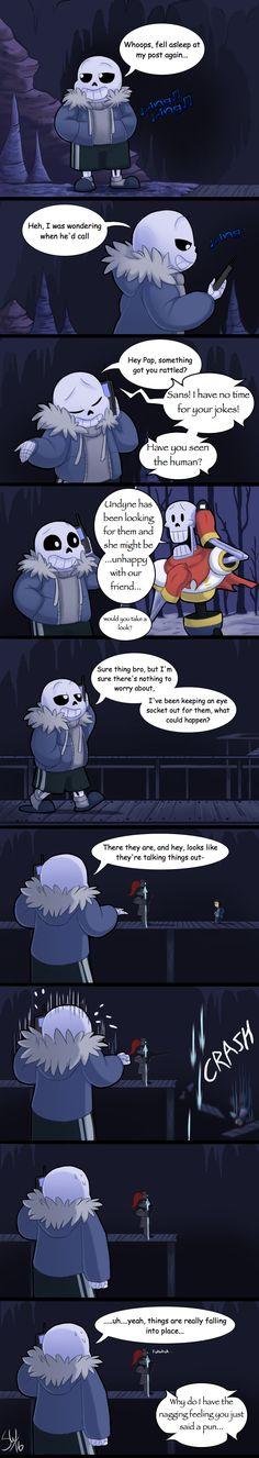 Sans, Papyrus, Undyne, and Frisk - comic