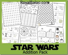 Star Wars Addition Printables.  Free!  Word Problems, Graphing, Fact Families, and more!