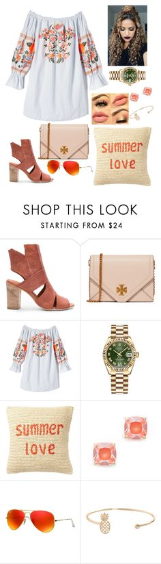 """""""Like I'm Gonna Lose U"""" by mackenziecollins0719 ❤ liked on Polyvore featuring Free People, Tory Burch, Rolex, Nordstrom Rack, Kate Spade, Ray-Ban and Humble Chic"""