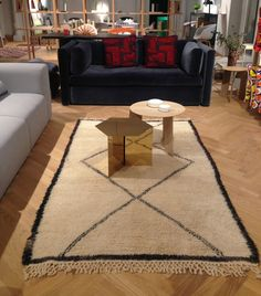 Our rugs in the HAY showroom in Bath from the Emily's House London blog