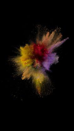 Colorful Dust Smoke Burst Explosion Art iOS9 Wallpaper #iPhone #6 #wallpaper