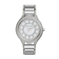 Michael Kors Kerry Stainless Steel Ladies Crystal Watch with Crystal Bracelet