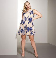 Blue Bouquet A-Line DressBlue Bouquet A-Line Dress,