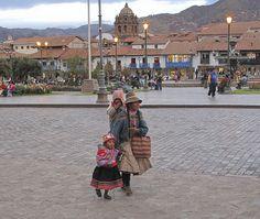 Family in Plaza de Armas by esejud, via Flickr