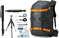 Lowepro Whistler BP 350 AW Photo Camera Sling Backpack   Accessory Bundle For Canon, Nikon, Sony, Olympus, Pentax Digital SLR Cameras