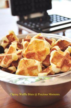 cheesy waffle bites | #ParksandRec