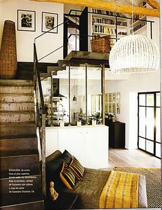 love those stairs and the bookcase loft
