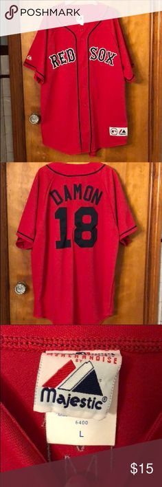 💥FLASH SALE💥Red Sox Johnny Damon Jersey Like New! Worn once! Purchased 3d367b04e