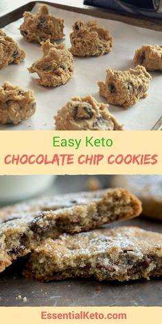 Keto chocolate chip cookie recipe - Add this low carb recipe to your essential keto must have recipes...