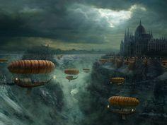 City - Fantasy - wallpapers