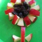 apple raisin flower (maybe w/ granny smith apple for stem?)