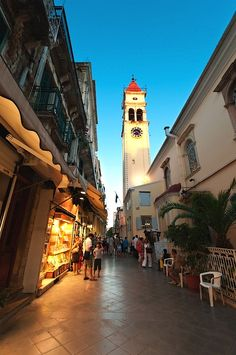 Bell tower - Corfu, Greece. Honeymoon Research of Ports of Call..