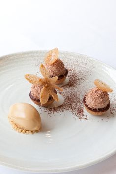 Recette de mini tartelettes caramel, cacahuète et chocolat par Thibaut Sombardier Menu Desserts, Fancy Desserts, Gourmet Desserts, Plated Desserts, Canapes Catering, Michelin Star Food, Bacon In The Oven, Cookie Packaging, Cooking Bacon
