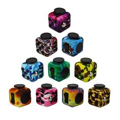 List of 7 types and styles of Fidget Stress Cubes