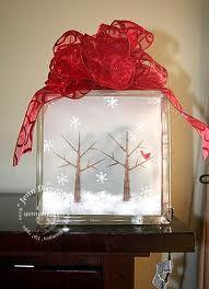Lighted Christmas Glass Block