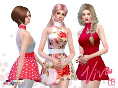 d4b91a5f72 The Sims Resource  ManueaPinny - Viva dress by nueajaa • Sims 4 Downloads  The Sims