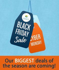 Mark your calendars! #blackfriday #cybermonday #deals #markyourcalendars