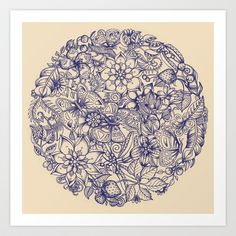 Circle of Friends Art Print by micklyn - $16.00