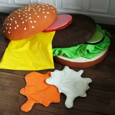 47 Best Bread Cushion Project Images Cushion Cushions Pillows - Hamburger-scatter-cushions