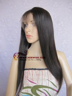 100% indian remy human hair   Lace front wigs  light yaki