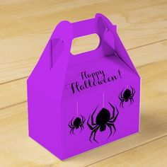 Fun Halloween Spiders Party Favor Boxes. $2.21 #HalloweenPartyIdeas #Halloweenfavors #Halloween