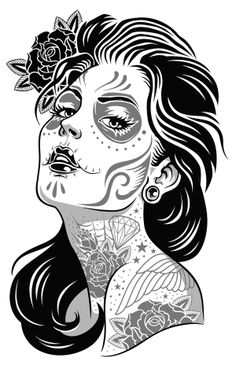 Day of dead girl by Michael Hinkle, via Behance