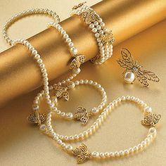 Vintage Bee and Pearl Jewelry