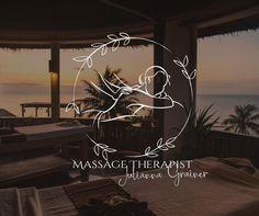 Logo Biologique, Logo Photographe, Logo Image, Massage Logo, Zen, Branding Design, Logo Design, Massage Business, Organic Logo