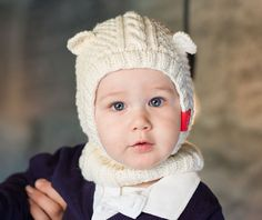 Schalmütze Mit Ohren Stricken Strickkit Pu Druty Knitting