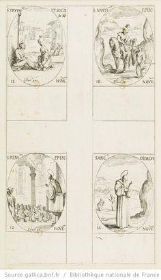 [Les images des saints]. [405-408], [Les images des saints. Cent-deuxième planche] : [estampe] : [novembre] / [Jacques Callot] - 1