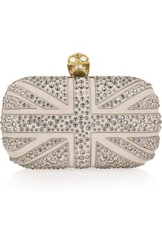 alexander mcqueen clutch. costs more than my wedding dress. however, i'd probably get more uses out of it