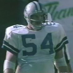 Defensive tackle RANDY WHITE (54)--October 19, 1980