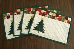 Jane's Quilting - Cute xmas table mats??