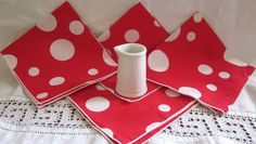 Kitschy French Retro Decor  Table Toppers    by angelinabella, $15.00