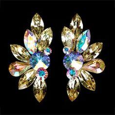 Rhinestone earring 2050 JQ | Dancesport Fashion @ DanceShopper.com