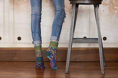 Ravelry: True North DK Socks pattern by Lucy Neatby