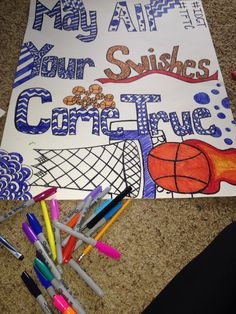 basketball poster diy high school