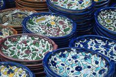 beautiful traditional Palestinian pottery